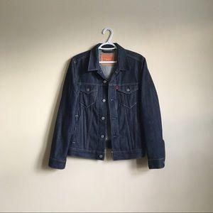 Original Levi's Trucker Denim Jacket in Dark Blue
